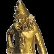 Petite Pierrot - Small Bronze of Classic Commedia dell'Arte Character