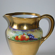 Stouffer Hand Painted Limoges DESERTED GARDEN Pitcher