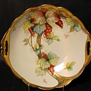 Donath Handpainted Currants Bowl signed REX