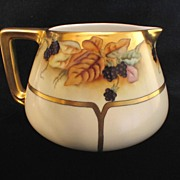 Hand Painted Limoges Cider or Lemonade Pitcher with Blackberries