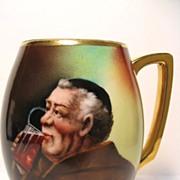 Hand Painted Donath Studio Monk Mug or Tankard- Artist Signed A. HEIDRICH