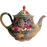 Lovely Victorian Era Antique Limoges France Hand Painted Tea Pot or Coco Pot, circa 1902