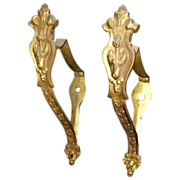 Pair of floral curtain tiebacks