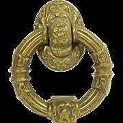 SOLD Ornate bronze ring door knocker