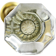 Glass knob set with flower shaped mercury bullets