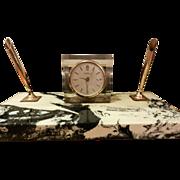 Original Seth Thomas marble desk clock