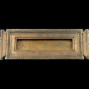 Original solid bronze letter slot with egg and dart design