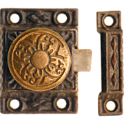 Eastlake Aesthetic iron cabinet latch