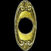 Pretty decorative brass door plate