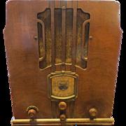 Olde Sparton wooden radio