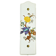 Beautiful porcelain bird push plate by Limoges