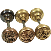 Set of collectors quality ornate doorknobs