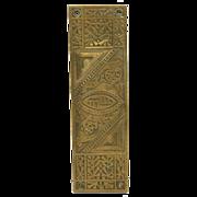 Eastlake Art Deco bronze push plate by Reading
