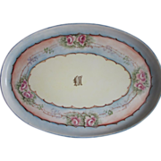Hand Painted M Z Austria Roses Tray