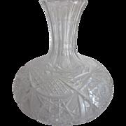 Vintage Cut Glass Carafe Signed Clark