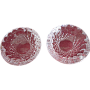 Two Waterford Crystal Ashtrays