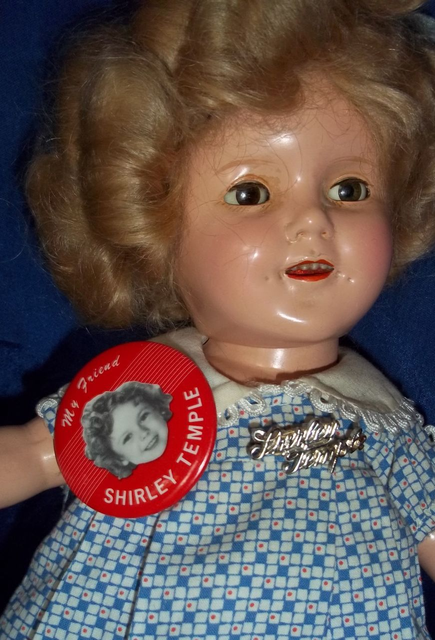Red Shirley Temple Pin