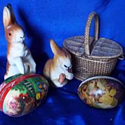 Candy box Papier Mache Rabbits