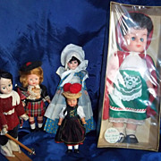 Collection of five Small International Dolls