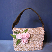 Attractive Straw Purse for Cissy or Miss Revlon.
