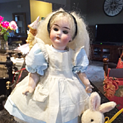 Cabinet Size German Doll Dressed as Alice