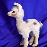 "SALE 1960's Steiff Silver Button Steiff Llama ""Lama"""