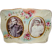 D&C - Limoges - France - Porcelain Portrait - Photo Frame - HAND PAINTED - ROSES - Circa 1900 - Rare Treasure - Museum Quality - Only Fine Lines