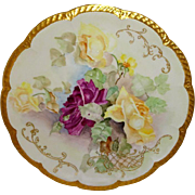 Haviland - Limoges - Charger - Plate - Tray - Hand Painted - Roses - Signed - Circa 1896 - Onl
