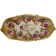 Breathtaking - Nippon - Noritake - Japan Bowl - Roses - Roses - ROSES -  Highly Ornate - Embossed Gilded Design - Masterpiece - Stunning Painting on Porcelain - Show Stopper - Museum Quality - Only Fine Lines