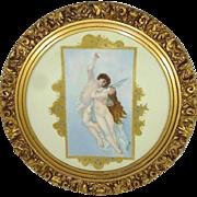 Fabulous Framed Antique T&V Limoges Portrait Plaque - Artist Signed - F.B. Clark - Circa 1907