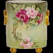 Guerin - Limoges - France - French Porcelain - Hand Painted - Artist Signed - Cache Pot - Vase
