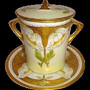 Pickard - Flora Primavera - Condensed Milk Container - Jelly/Jam Jar - Matching Under Plate -