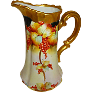 Antique - Pickard - Pitcher - Tankard - Hand Painted - Currants - Artist Signed - Walters - Ci