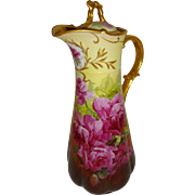 Brauer Studio - Chocolate - Coco - Pot - Hand Painted - Romantic Bouquet - Pink Tea Roses - Ar