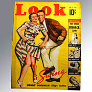Look Magazine September 1938 Mickey Mouse and Swing Dancing Vintage Periodical