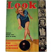 Look Magazine 1939 Eleanor Holm Cover / Vintage Periodical / Vintage Magazine 1930s / Gossip .