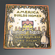 SALE RARE Vintage Childrens Book America Builds Homes Architecture and American History