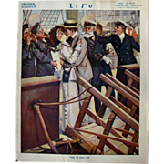 SOLD Vintage Life Magazine Paul Stahr Cover March 1914 / Turn of The Century Magazine / Vintag