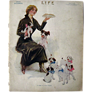 Vintage Life Magazine Henry Hutt Cover Dog Number April 1911 / Turn of The Century Magazine ..