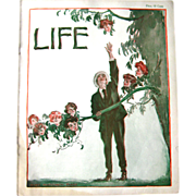 SOLD Vintage Life Magazine James Montgomery Flagg Cover September 21 1905 / Turn of The Centur