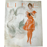 SOLD Vintage Life Magazine Henry Hutt Cover August 3 1905 / Turn of The Century Magazine / Vin