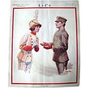SOLD Vintage Life Magazine Walter Tittle Cover July 3 1913 / Vintage Advertising / Automotive