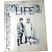 Vintage Life Magazine Nuttall Cover December 9 1905 / Turn of The Century Magazine / Vintage .