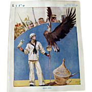 SOLD Vintage Life Magazine Orson Lowell Cover January 1 1914 / Vintage Advertising / Lampoon