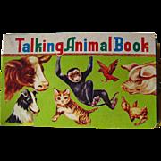 Talking Animal Book Vintage Noisemaker Book / Color Illustration / Childrens Book / Animal ...