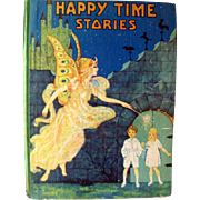 Happy Time Animal Crackers Vintage Childrens Book Illustrated by Fern Bisel Peat 1930s / Illus