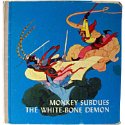 Monkey Subdues The White Bone Demon Chinese Childrens Illustrated Book / Story Time Book / ...
