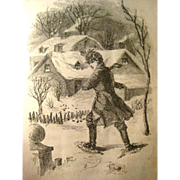 The Babes In The Balloon And Other Stories 1870s Antique Book Snow Drop Library / Vintage Chil