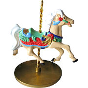SOLD Ginger Carousel Horse Hallmark Keepsake Ornament / Christmas Ornament / Christmas Tree /