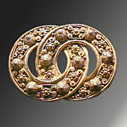 Russian Edwardian Interlocking Circles Pin